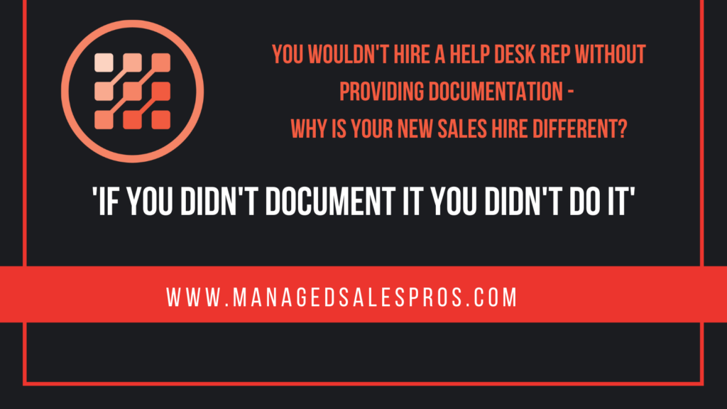 sales documentation for msps