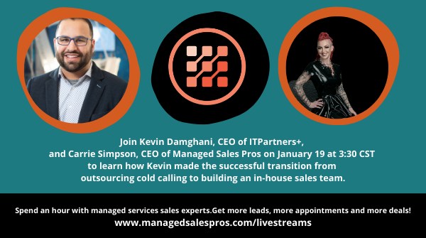 Managed Services Lead Generation Experts Carrie Simpson and Kevin Damghani