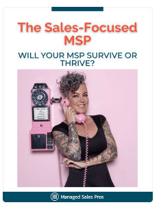 cover of The Sales Focused MSP carrie simpson on a phone title of book