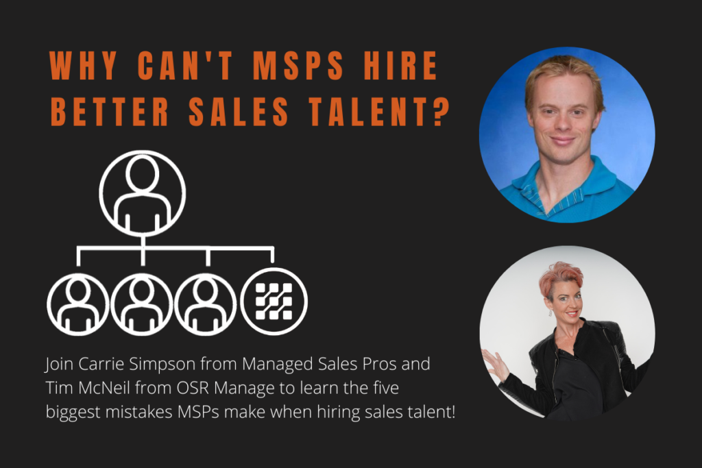 MSP Sales Webinar Picture of Tim McNeil and Carrie Simpson